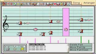 Invader Zim theme on Mario Paint Composer