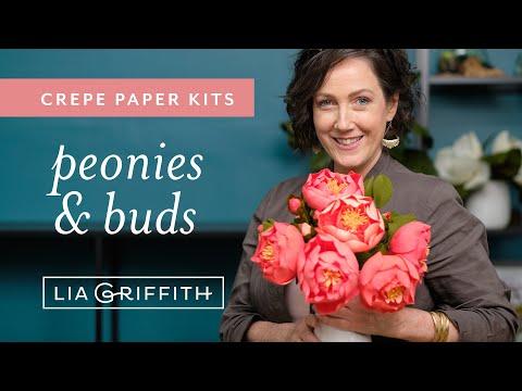 Crepe Paper Peony Flower Kit (full tutorial)
