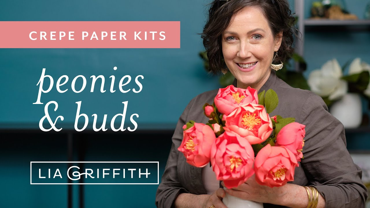 Video Tutorial: Crepe Paper Peony Flower Kit