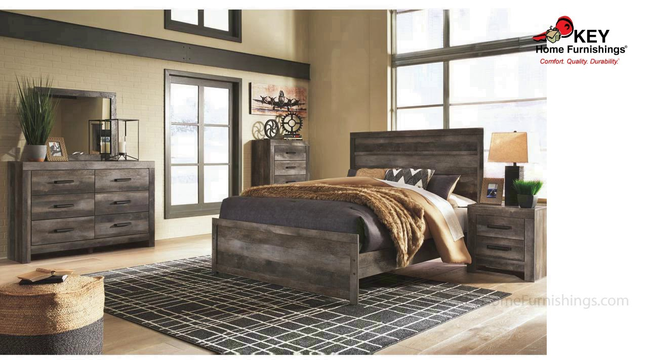Ashley Wynnlow Queen Panel Bed B440qpb Key Home Youtube