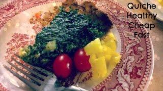 Quick, Healthy, Easy Spinach Quiche Recipe