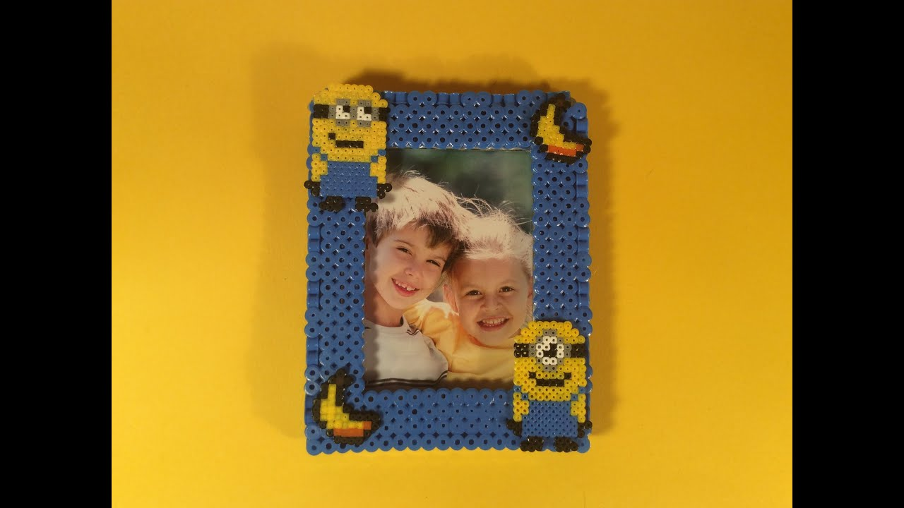 Como hacer un cuadro de los minions con hama beads f cil y - Hama beads cuadros ...