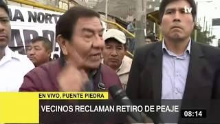 Vecinos de Puente Piedra reclaman retiro de los peajes