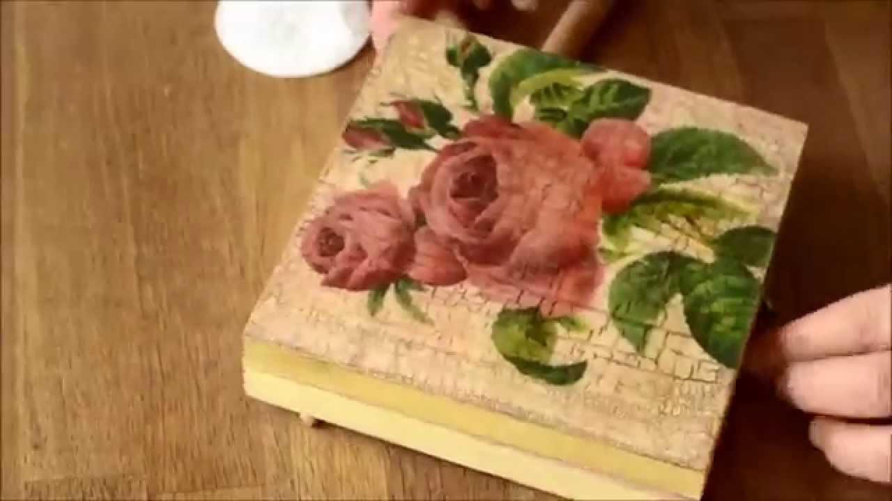 Decoupage technique and Cracking Varnish - Starter Kit 9