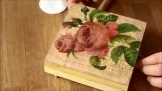 Decoupage technique and Cracking Varnish - Starter Kit 1
