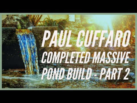 Paul Cuffaro COMPLETED Massive Backyard Fish Pond Build with Aquascape - Part 2 - VLOG 042