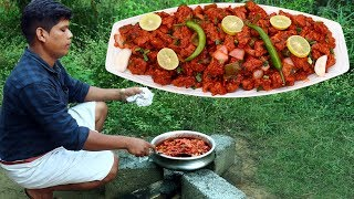 RESTAURANT CHILLI CHIKEN  Spcy Indian Recipe  Village Food Channel