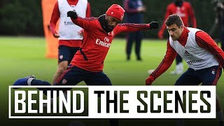 Arsenal prepare for the trip to Liverpool | Behind the scenes at London Colney