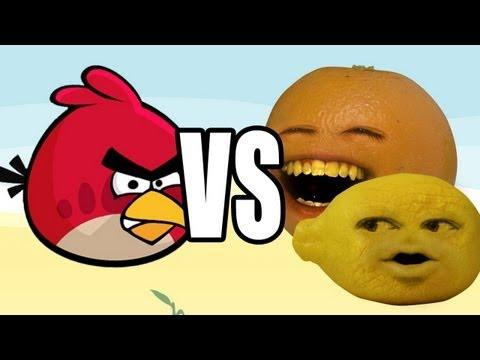 Annoying Orange vs Angry Birds: GRANDPA LEMON