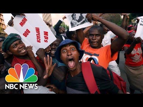Celebrations In Zimbabwe As Robert Mugabe Resigns   NBC News