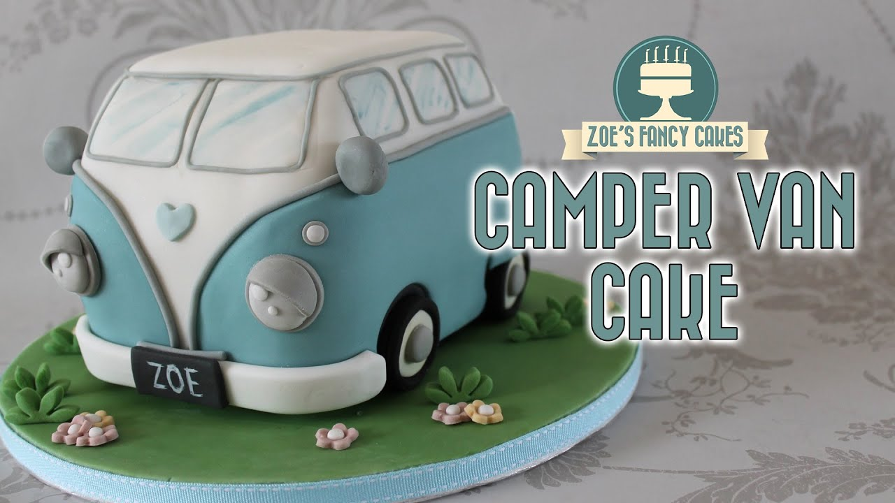 Campervan Cake Volkswagen Vw Camper Van Birthday Cake Youtube
