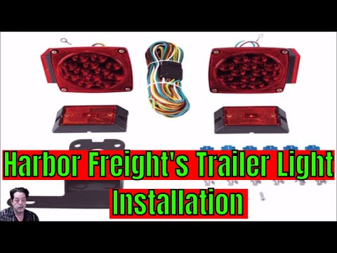 Harbor Freight - Trailer Light Installation - YouTube on
