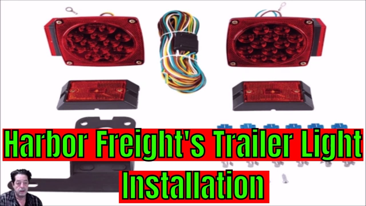 Harbor Freight - Trailer Light Installation on