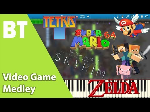 Video Game Medley (Piano Cover) + Sheets