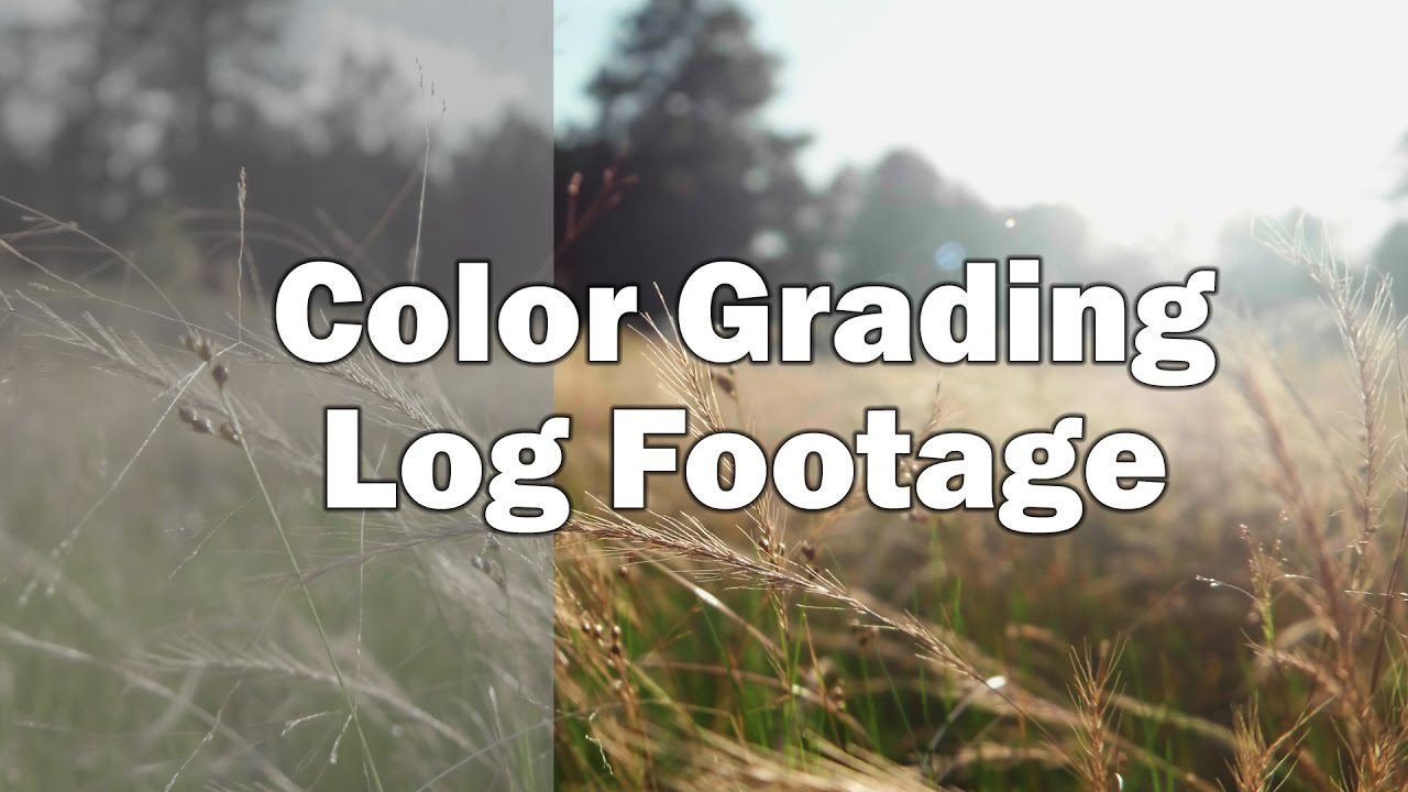 color grading log footage a tutorial in premiere youtube
