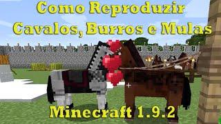 Como reproduzir cavalos, burros e mulas Minecraft 1.9.2/ 1.10.2/1.11