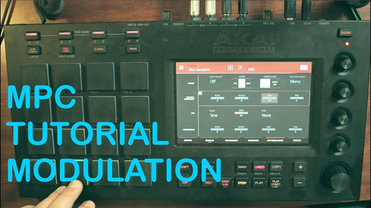 Mpc velocity modulation and lfo tutorial - mpc live x touch