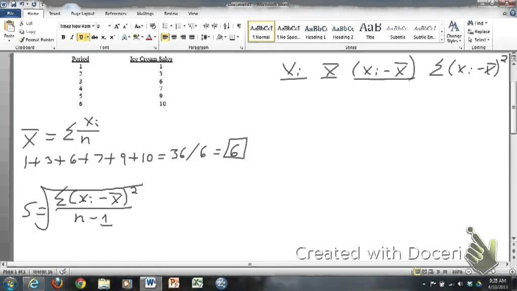 Finding the mean and standard deviation by hand youtube finding the mean and standard deviation by hand ccuart Image collections