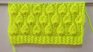 Beautiful Leaf Stitch pattern For Sweater/Cardigan