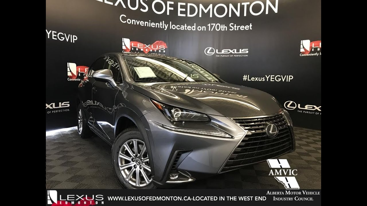 grey 2019 lexus nx 300 standard package review edmonton alberta