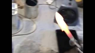 Heat treat and quenching a knife blade