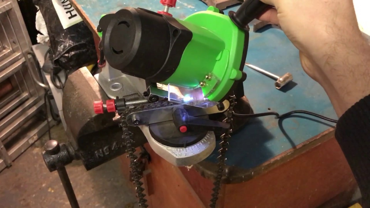 lidl chainsaw grinder sharpener - youtube