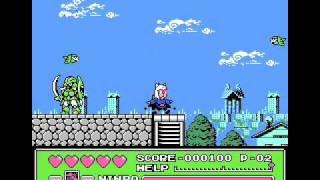ファミコンのゲームのプレイ動画。 「ラウンド1 宇宙人 エドポリにあらわる」