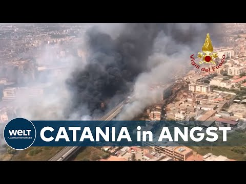 SIZILIEN IN FLAMMEN: Kritische Lage - Feuerwehr verteidigt verzweifelt Catania gegen Feuersbrunst