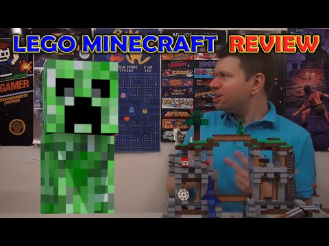 "LEGO Minecraft Crazy Review! ""The Mine"" Irate Gamer vs Creeper"