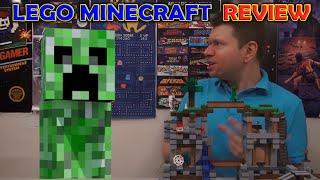 "LEGO Minecraft Crazy Review! ""The Mine"" Irate Gamer vs Creeper"