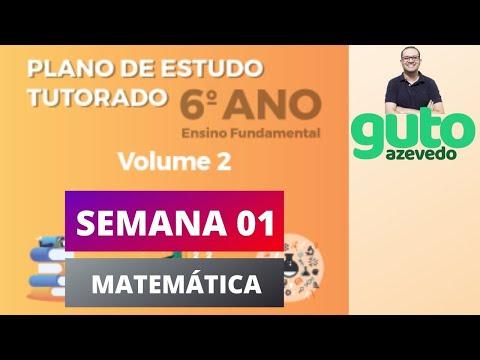 PET Volume 2 | 6º ano Fundamental | Semana 1 | Matemática | Correção das atividades | Guto Azevedo