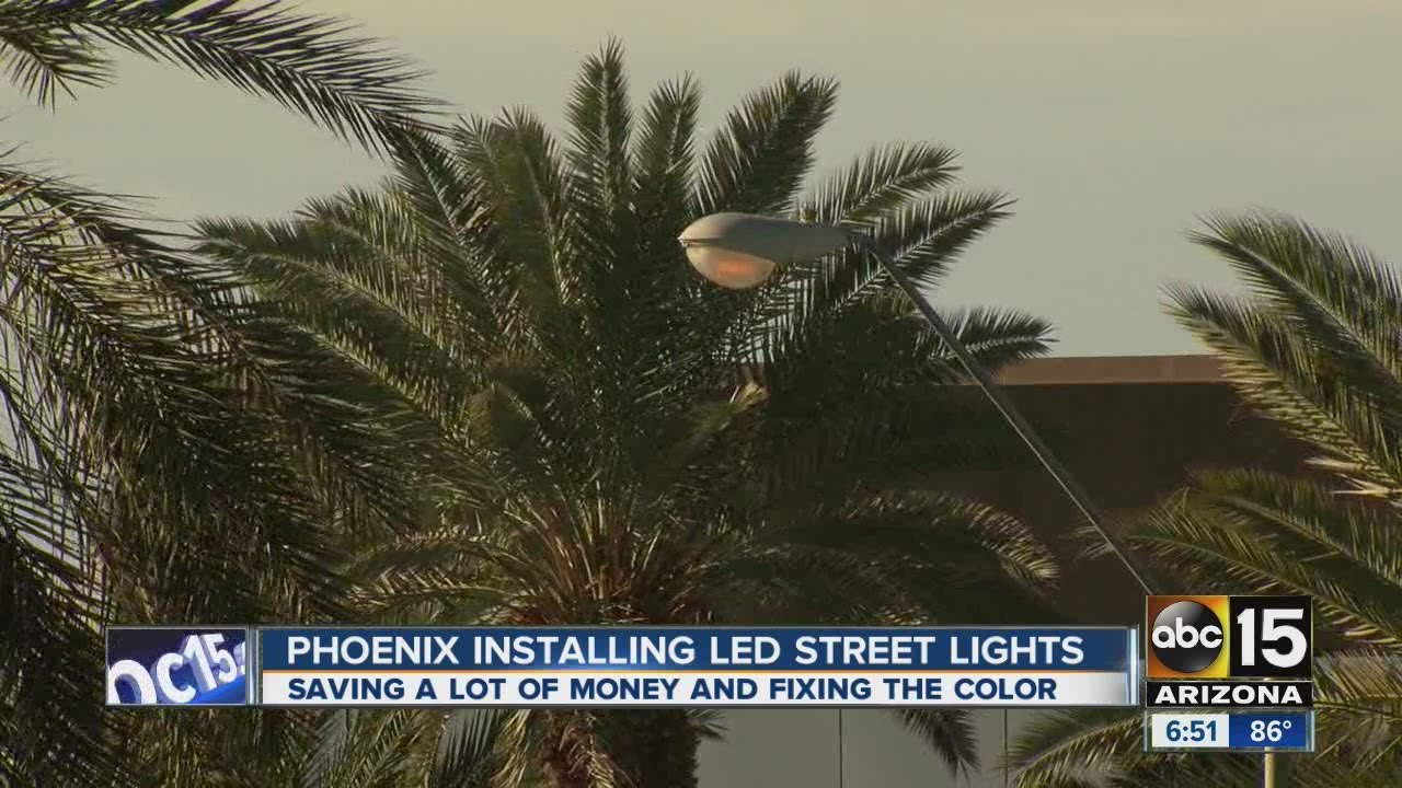 & Phoenix street lights going LED - YouTube