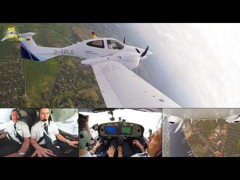 Lufthansa Aviation Training (EFA) Diamond DA42 ULTIMATE COCKPIT MOVIE [AirClips full flight series]