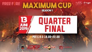 QUARTER FINAL TOURNAMENT FREE FIRE MAXIMUM CUP SEASON 1 DAY 2 | By Prestige