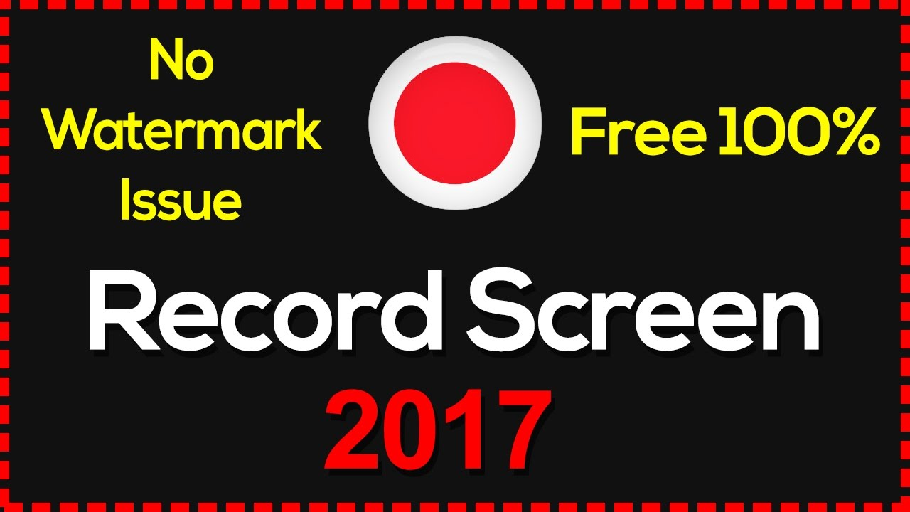 free pc game recording software no watermark