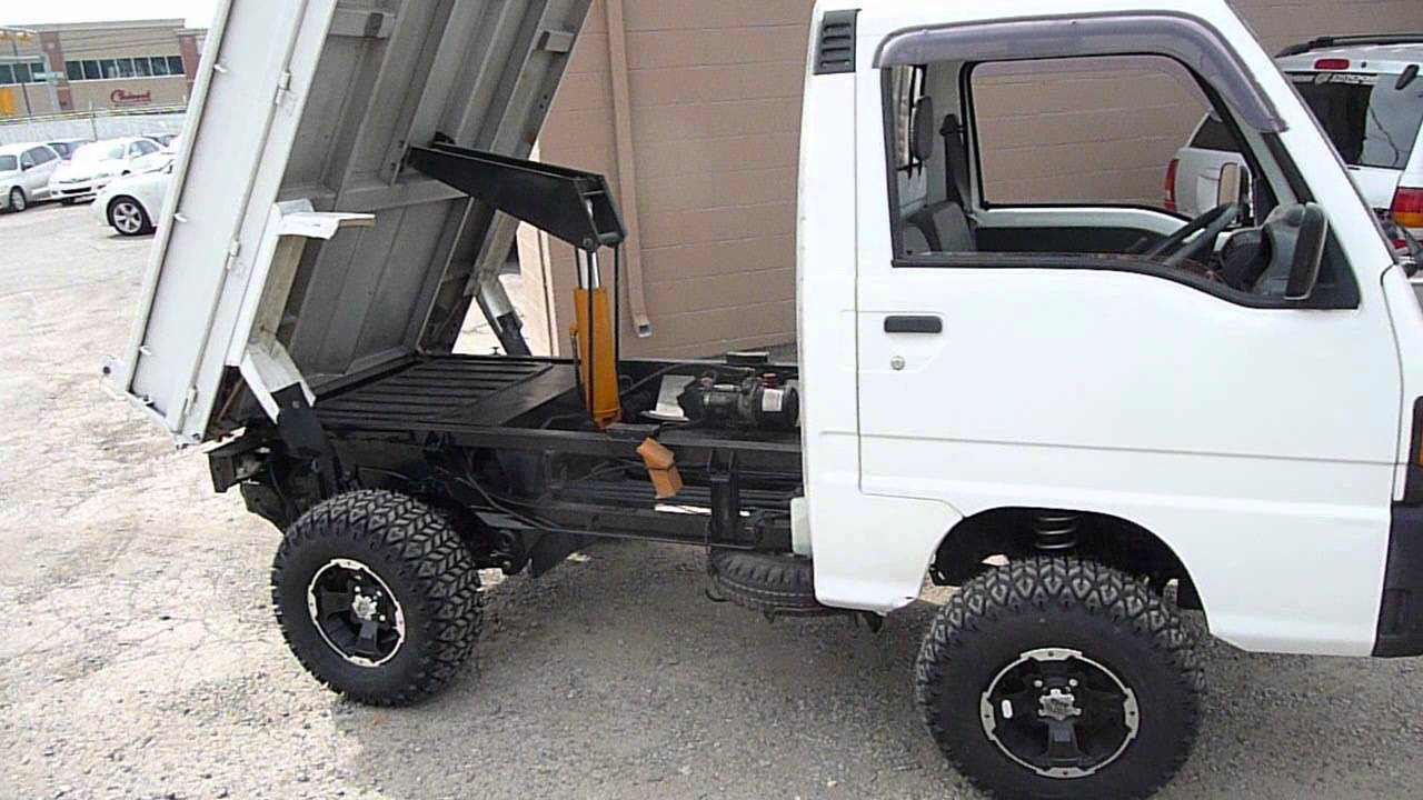 Subaru mini truck with heavy duty dump youtube for Motor lift for sale