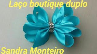 Laço boutique duplo com pontas por Sandra Monteiro