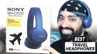 Sony CH510 Bluetooth Headphones - Best Travel Headphones with 35 Hrs Battery Life