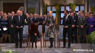 2017 Nobel Peace Prize: Arrival of the Norwegian Royal Family
