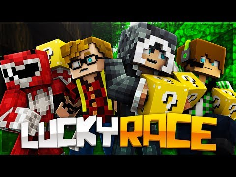LUCKY BLOCK RACE CON I MATES - MINECRAFT