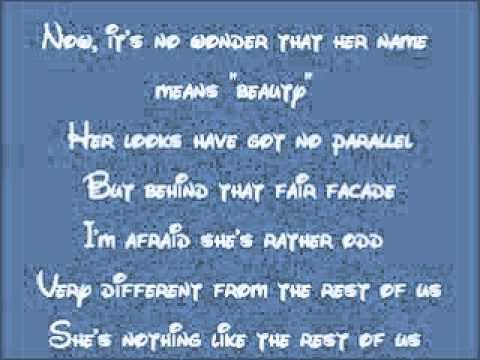 Beauty and the Beast-Belle Lyrics - YouTube