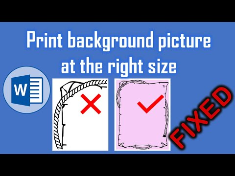 How to fix Background image does not print at the right size in MS Word