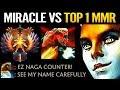 Miracle vs TOP 1 Sea MMR - Dota 2 Hard Carry Naga Siren is BACK