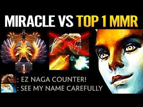 Miracle vs TOP 1 Sea MMR - Dota 2 Hard Carry Naga Siren is BACK thumbnail