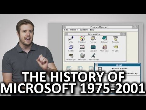 The History of Microsoft (1975-2001)