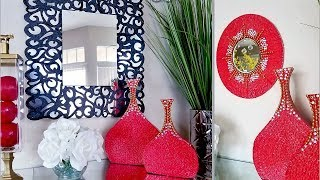 Diy Wall Mirror + Accent Vases! Quick and Easy Home Decorating ideas| Simple 5 minutes Hack!