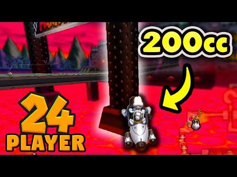 Mario Kart Wii 24-PLAYER 200cc KO #9: Double Elimination
