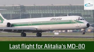Last flight for Alitalia's MD-80