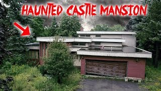 EXPLORING ABANDONED HAUNTED CASTLE MANSION UNCUT!! *WE MADE A SCARY DISCOVERY* | MOE SARGI