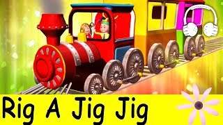 Rig a Jig Jig | Family Sing Along - Muffin Songs